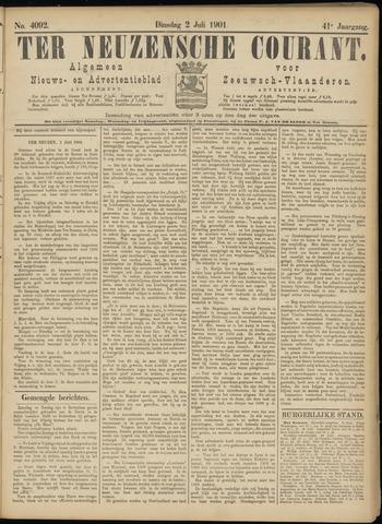 Ter Neuzensche Courant. Algemeen Nieuws- en Advertentieblad voor Zeeuwsch-Vlaanderen / Neuzensche Courant ... (idem) / (Algemeen) nieuws en advertentieblad voor Zeeuwsch-Vlaanderen 1901-07-02