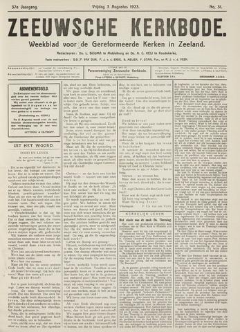 Zeeuwsche kerkbode, weekblad gewijd aan de belangen der gereformeerde kerken/ Zeeuwsch kerkblad 1923-08-03