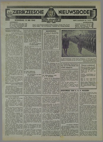 Zierikzeesche Nieuwsbode 1942-05-13