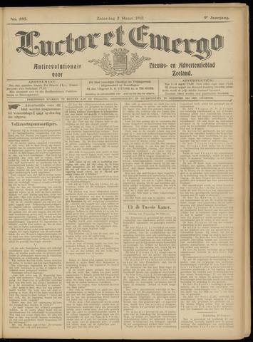 Luctor et Emergo. Antirevolutionair nieuws- en advertentieblad voor Zeeland / Zeeuwsch-Vlaanderen. Orgaan ter verspreiding van de christelijke beginselen in Zeeuwsch-Vlaanderen 1912-03-02