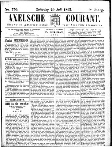 Axelsche Courant 1893-07-29