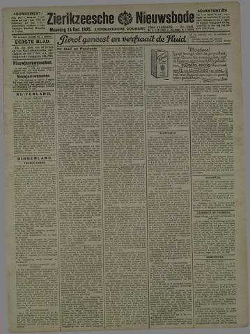 Zierikzeesche Nieuwsbode 1925-12-14