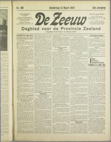De Zeeuw. Christelijk-historisch nieuwsblad voor Zeeland 1929-03-14