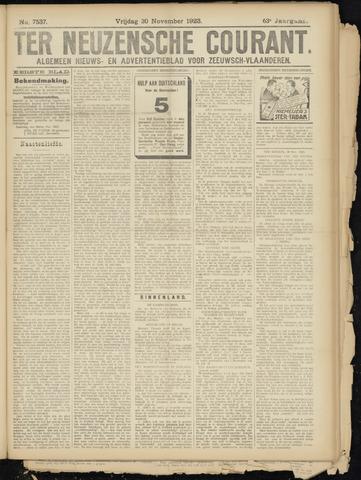Ter Neuzensche Courant. Algemeen Nieuws- en Advertentieblad voor Zeeuwsch-Vlaanderen / Neuzensche Courant ... (idem) / (Algemeen) nieuws en advertentieblad voor Zeeuwsch-Vlaanderen 1923-11-30