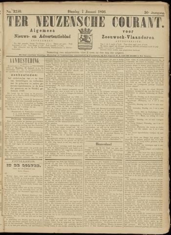 Ter Neuzensche Courant. Algemeen Nieuws- en Advertentieblad voor Zeeuwsch-Vlaanderen / Neuzensche Courant ... (idem) / (Algemeen) nieuws en advertentieblad voor Zeeuwsch-Vlaanderen 1896-01-07