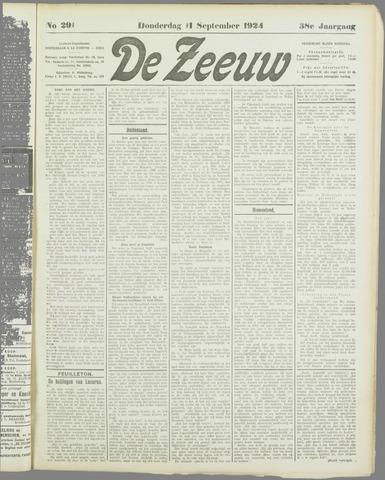 De Zeeuw. Christelijk-historisch nieuwsblad voor Zeeland 1924-09-11