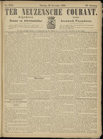Ter Neuzensche Courant. Algemeen Nieuws- en Advertentieblad voor Zeeuwsch-Vlaanderen / Neuzensche Courant ... (idem) / (Algemeen) nieuws en advertentieblad voor Zeeuwsch-Vlaanderen 1889-11-23