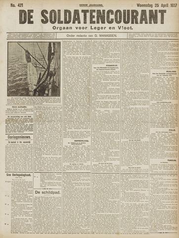 De Soldatencourant. Orgaan voor Leger en Vloot 1917-04-25