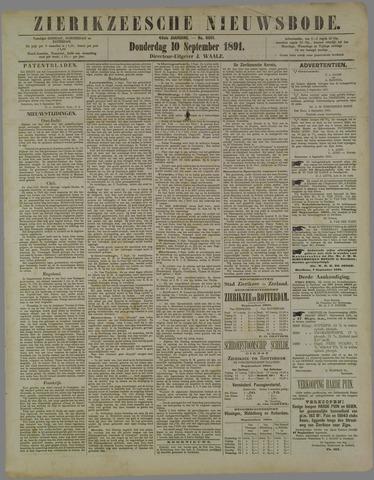 Zierikzeesche Nieuwsbode 1891-09-10