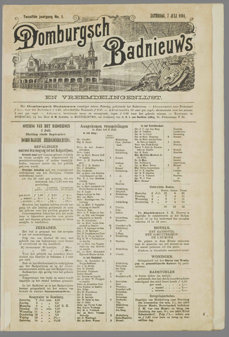 Domburgsch Badnieuws 1894