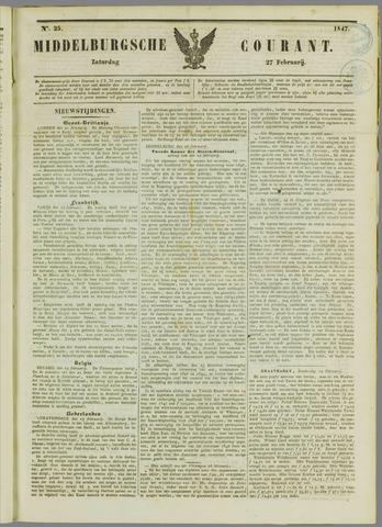 Middelburgsche Courant 1847-02-27