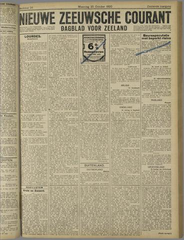 Nieuwe Zeeuwsche Courant 1920-10-25