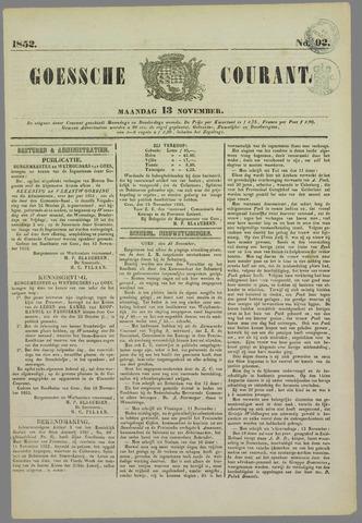 Goessche Courant 1852-11-13