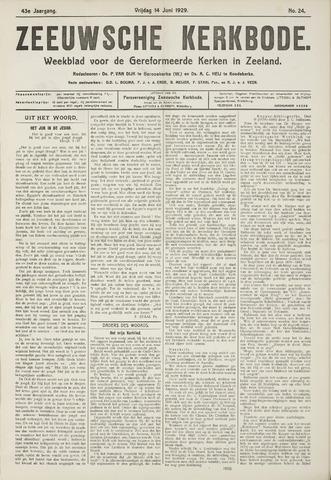 Zeeuwsche kerkbode, weekblad gewijd aan de belangen der gereformeerde kerken/ Zeeuwsch kerkblad 1929-06-14
