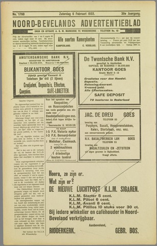 Noord-Bevelands Nieuws- en advertentieblad 1932-02-06