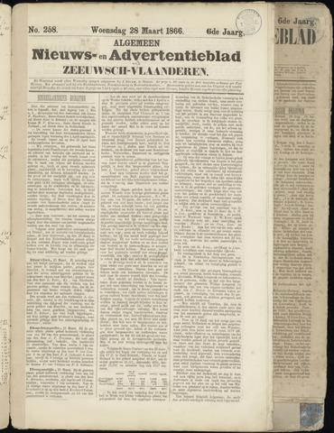 Ter Neuzensche Courant. Algemeen Nieuws- en Advertentieblad voor Zeeuwsch-Vlaanderen / Neuzensche Courant ... (idem) / (Algemeen) nieuws en advertentieblad voor Zeeuwsch-Vlaanderen 1866-03-28