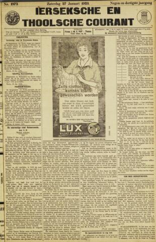 Ierseksche en Thoolsche Courant 1923-01-27
