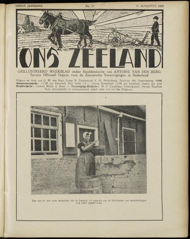 Ons Zeeland / Zeeuwsche editie 1929-08-31