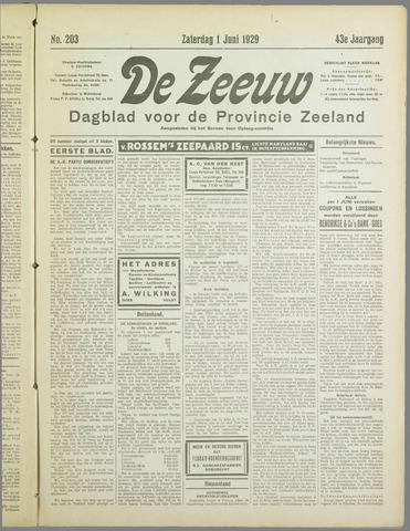 De Zeeuw. Christelijk-historisch nieuwsblad voor Zeeland 1929-06-01