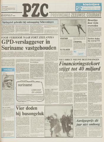 Provinciale Zeeuwse Courant 1983-02-21