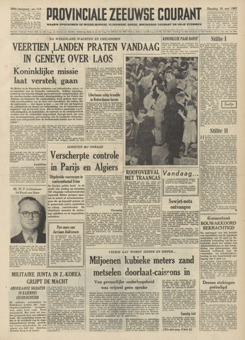 Provinciale Zeeuwse Courant 1961-05-16