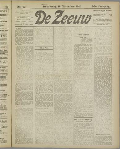 De Zeeuw. Christelijk-historisch nieuwsblad voor Zeeland 1915-11-18