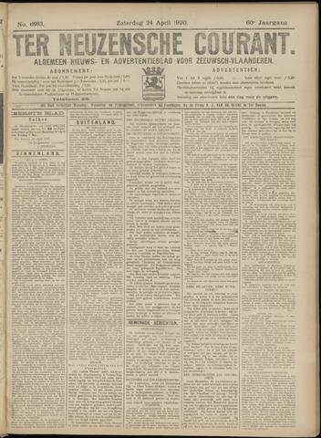 Ter Neuzensche Courant. Algemeen Nieuws- en Advertentieblad voor Zeeuwsch-Vlaanderen / Neuzensche Courant ... (idem) / (Algemeen) nieuws en advertentieblad voor Zeeuwsch-Vlaanderen 1920-04-24