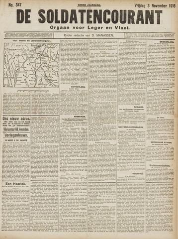 De Soldatencourant. Orgaan voor Leger en Vloot 1916-11-03
