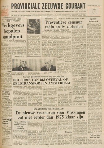 Provinciale Zeeuwse Courant 1970-12-01