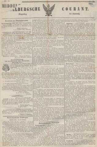 Middelburgsche Courant 1851-01-14