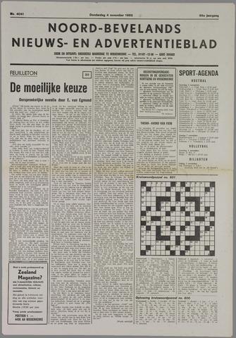 Noord-Bevelands Nieuws- en advertentieblad 1982-11-04