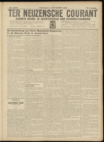 Ter Neuzensche Courant. Algemeen Nieuws- en Advertentieblad voor Zeeuwsch-Vlaanderen / Neuzensche Courant ... (idem) / (Algemeen) nieuws en advertentieblad voor Zeeuwsch-Vlaanderen 1938-09-07