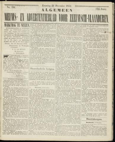 Ter Neuzensche Courant. Algemeen Nieuws- en Advertentieblad voor Zeeuwsch-Vlaanderen / Neuzensche Courant ... (idem) / (Algemeen) nieuws en advertentieblad voor Zeeuwsch-Vlaanderen 1872-12-21