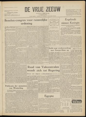 de Vrije Zeeuw 1952-02-11
