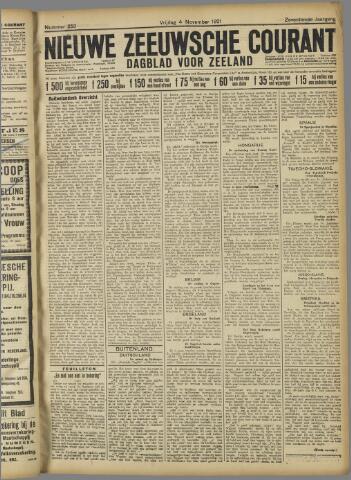 Nieuwe Zeeuwsche Courant 1921-11-04