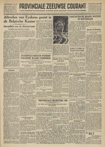 Provinciale Zeeuwse Courant 1950-01-12