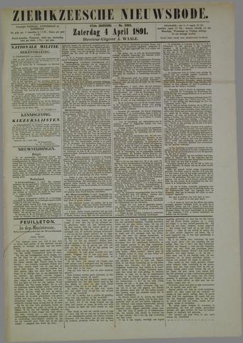 Zierikzeesche Nieuwsbode 1891-04-04