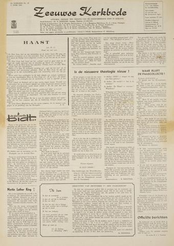 Zeeuwsche kerkbode, weekblad gewijd aan de belangen der gereformeerde kerken/ Zeeuwsch kerkblad 1968-04-11
