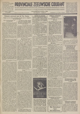 Provinciale Zeeuwse Courant 1941-11-13