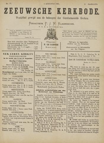 Zeeuwsche kerkbode, weekblad gewijd aan de belangen der gereformeerde kerken/ Zeeuwsch kerkblad 1888-08-04