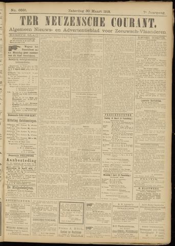 Ter Neuzensche Courant. Algemeen Nieuws- en Advertentieblad voor Zeeuwsch-Vlaanderen / Neuzensche Courant ... (idem) / (Algemeen) nieuws en advertentieblad voor Zeeuwsch-Vlaanderen 1918-03-30