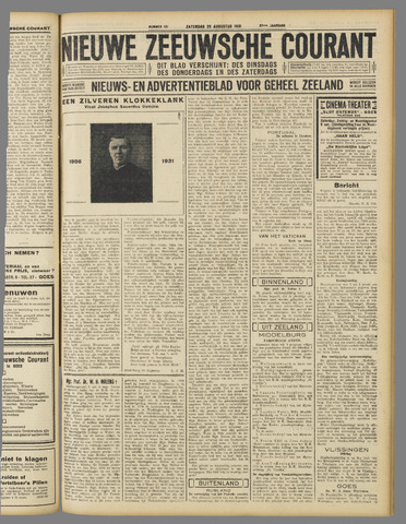 Nieuwe Zeeuwsche Courant 1931-08-29