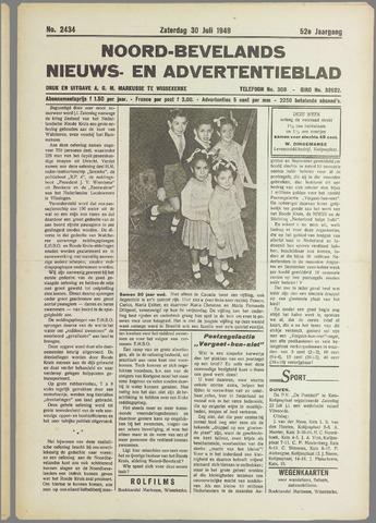 Noord-Bevelands Nieuws- en advertentieblad 1949-07-30
