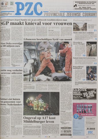 Provinciale Zeeuwse Courant 2005-12-13