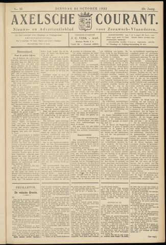 Axelsche Courant 1933-10-24