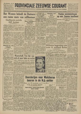 Provinciale Zeeuwse Courant 1949-04-11