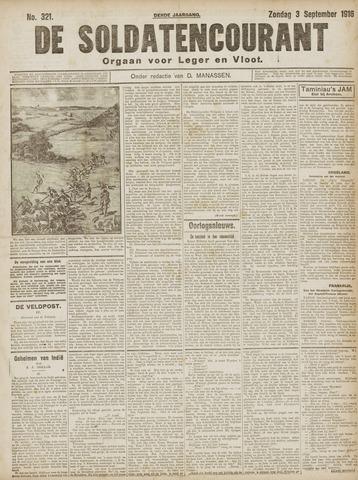 De Soldatencourant. Orgaan voor Leger en Vloot 1916-09-03
