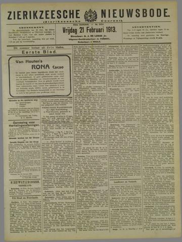 Zierikzeesche Nieuwsbode 1913-02-21
