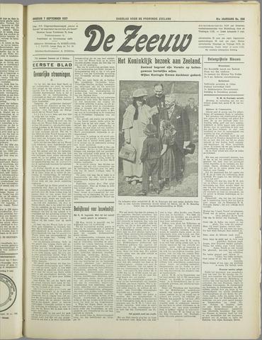 De Zeeuw. Christelijk-historisch nieuwsblad voor Zeeland 1937-09-07