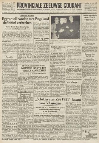 Provinciale Zeeuwse Courant 1951-10-09